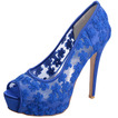 Dantelă pantofi de nunta cu tocuri albe platformă sandale banchet pantofi pantofi mireasa