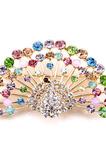 Retro Peacock Inlaid diamant din aliaj de animale Brooch