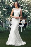 Rochie de mireasa Sirenă Talie naturale Mediu Mătura Triunghi încreți