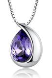 Comert cu ridicata de argint inima în formă de moda cristal femei colier