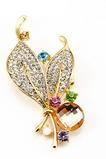 Femei en-gros incrustate diamant New Style Crystal Pin broșă