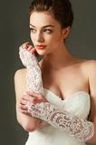 Fildeș mănuși de nuntă dantelă decorațiuni țesături translucide toamna