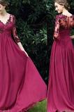 Rochie de seara Satin șifon Broderie Talie naturală Vara Elegant
