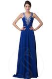 Rochie de seara Sifon Fără mâneci Mătura Minge Elegant Talie naturale