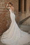 Rochie de mireasa Sirenă Lung Talie naturale Fermoar Cădea Mâneci lungi