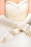 Mănuși de nuntă rezumat taffeta lung biserica plin de primăvară deget