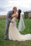 Voal de nunta scurt cu pieptene lung alb primavara