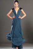Rochie de seara Elegant Fermoar Vara V gâtului Corsetul plisate