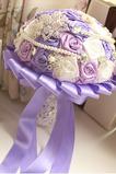Violet tema mireasa mireasa buchet trandafiri diamant margele perla ia flori