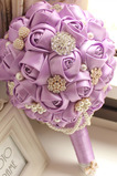 High end custom violet temă mireasă mireasă buchet