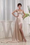 Rochie de bal Elegant Cristal Talie imperiu Ştreang Etaj lungime