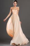 Rochie de bal Cutat Mijlocul spate Corsetul plisate Şifon Fără mâneci