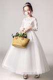 Rochie florăreasă Ceremonie Iarnă Bijuterie Talie naturale Flori
