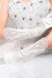 Mănuși de nuntă roșu lung mătase ceremonial plin deget rece