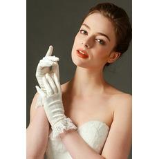 Mănuși de nuntă plin deget dantelă fildeș scurt primăvară de moda