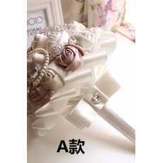 Un nou simplu simbolul atmosferic de diamante mireasa perla de mireasa high-end mână