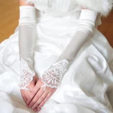 Mănuși de nuntă Elegant Taffeta Beach Aplicați iarna