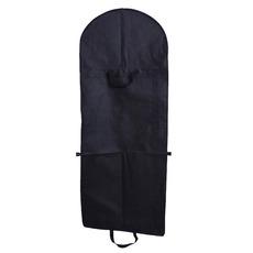 Material nețesut de culoare neagră și rochie mare de praf acopere punga de mână rochie