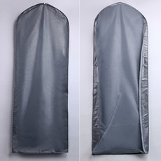 Praf acoperi 155 cm en-gros argint transparente sac de rochie de mireasa praf