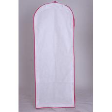Rochie albă mare de praf acoperă rochia de mireasă sac cu capac lung