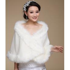 Sali de nunta fara maneca cu blana Sexy camera de iarnă
