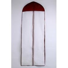 155 cm lungime o singură față transparent marginea de praf acoperă sac de rochie de mireasa praf