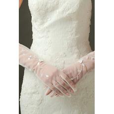 Sexy translucid mănuși sexy nunta lung umbra plin deget