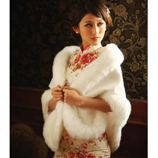 Elegant alb de iarna alb gros de cristal floare broșă dreptunghi nunta șal