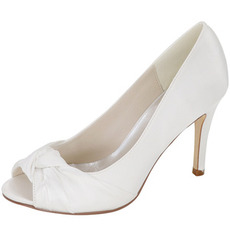 Încălțăminte cap de pește pantofi mireasă satin pantofi rochie stiletto pantofi de înaltă calitate banchet