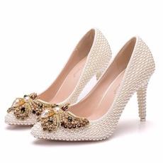 9CM perla arc tocuri inalte pantofi stiletto pointe pantofi petrecere