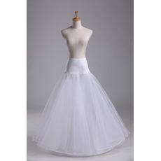 Nunta petticoat spandex standard de lungime unică talie elastic talie