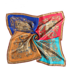 Eșarfă simplă lungă reală de mătase primăvară albastru toți adulții