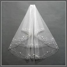 Chic cu pieptene dimensiune crimps poate fi personalizat alb voal de nunta