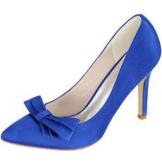 Arcul din satin cu toc stiletto pantofi prințes pantofi de mireasă