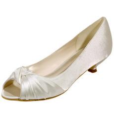 Încălțăminte de mireasă ghete de nuntă de pește pantofi de petrecere din satin