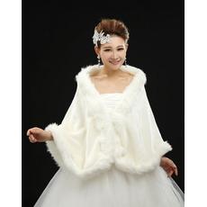 Glamour fără mâneci superioară și inferioară de lână șal de nunta de decorare