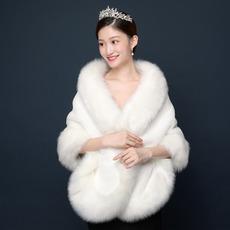 Jacheta caldă de mireasă cămașă imitație de accesorii pentru șaluri din blană de vulpe