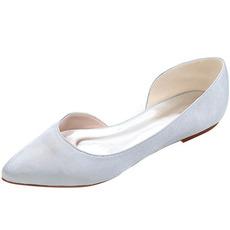 Încălțăminte cu vârf în pantofi din satin, pantofi de petrecere, pantofi casual pentru femei