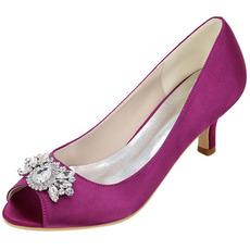 Încălțăminte cu toc înalt pește pantofi gură moda pantofi satin banchet pantofi de nunta