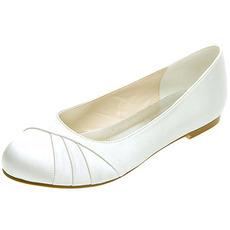 Încălțăminte plată pentru femei satin plată pantofi pantofi pentru nunți
