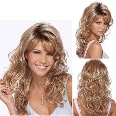 Perruque înclinat banguri materiale de temperatură înaltă 45-50 cm lungă curly