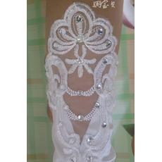 Mănuși de nuntă țesute dantelă dorit toamna translucid