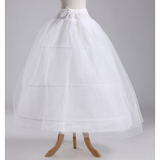 Nunta petticoat lățime rochie completă elegant trei jante din poliester taffeta