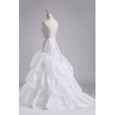 Nunta petticoat trei jante diamant rochie de diametru elegant taffeta poliester
