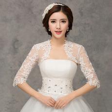 Nuntă șal 1/2 mânecă malefic aplicații dantelă tesatura