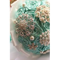 Diamant mână perla de panglică flori trandafir buchet cu flori