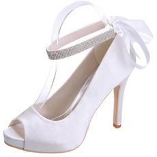 Satin pantofi de nuntă stiletto pantofi gură de pește banchet pantofi anual petrecere de modă