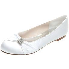 Încălțăminte plată satin pantofi de nuntă de nuntă plus mărime pantofi plate