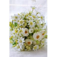 Verde și alb ceai flori buchet mireasa coreeană simulare căsătorit