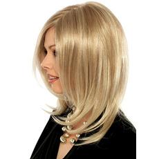 Perruque pere potrivit pentru femei temperatura normală de material lung de buclat